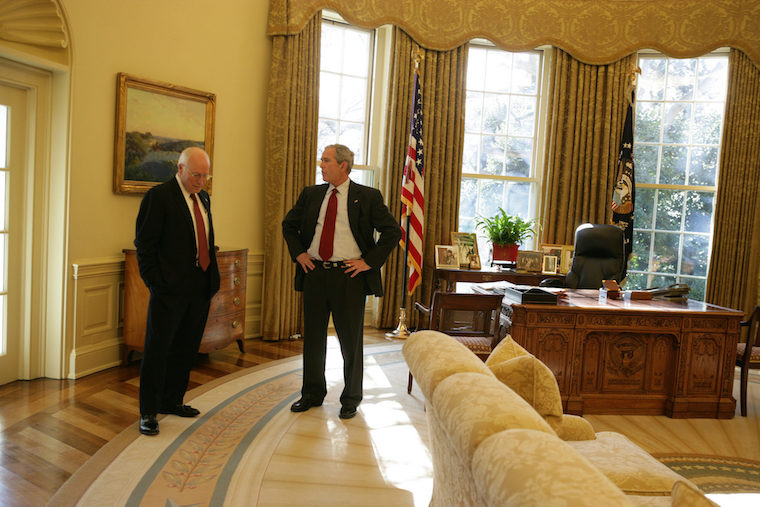 bush oval office. Bush And Cheney Oval Office. Photo NARA Office